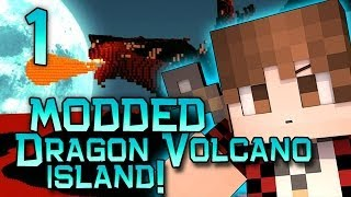Minecraft: Dragon Volcano Island Modded! w/Mitch, Jerome and Ryan! Part 1 - New Weapons and Mobs!