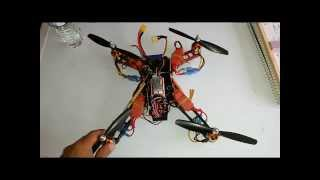 Quadcopter-Q330-Just having some fun with a fun frame.  Frame+esc and power leads=185grams!!