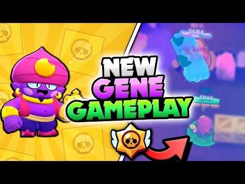 NEW BRAWLER GENE GAMEPLAY! GENE SUPER OP IN BRAWL STARS!!
