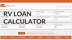 Loan Calculator For Buying an RV | RV Payment Calculator