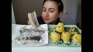 Селедка  и Картошка | HERRING and BOILED POTATOES |Eeating show | 먹방 [ Eng Sub]