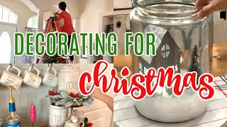 DECORATING FOR CHRISTMAS | CHRISTMAS DECORATE WITH ME | CHRISTMAS 2019 | LIVING IN THE MOM LANE