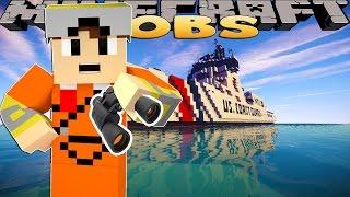 Minecraft Jobs - JOINING THE US COAST GUARD!! w/ Captain America