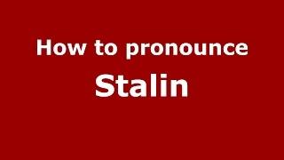 Download lagu How to pronounce Stalin PronounceNames com MP3