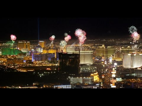 happy new years 2016 full las vegas strip fireworks