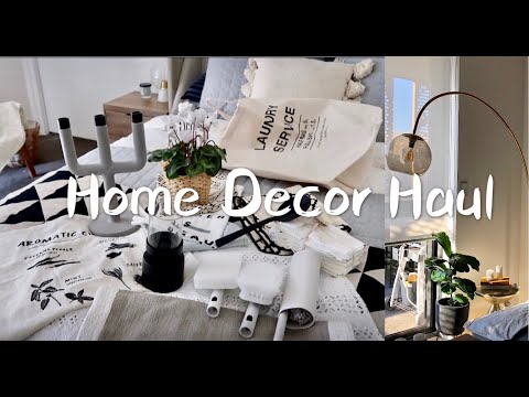 HOME DECOR 2HOME DECOR HAUL 02 | 家居类购物分享02 | MUJI无印良品·HM HOME·WEST ELM·二手店 | 1米9的落地灯和2米2的仙人掌