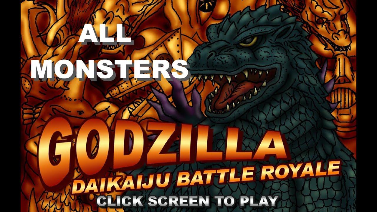 godzilla daikaiju battle royale all monsters youtube