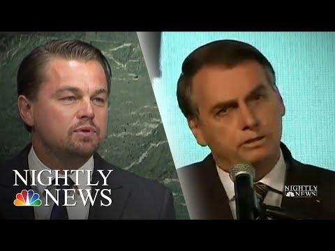 Leonardo DiCaprio Responds To Brazilian President's Amazon Fires Accusation | NBC Nightly News