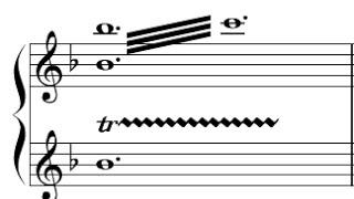 Exemplo para trinado em oitava  - Escrita Original