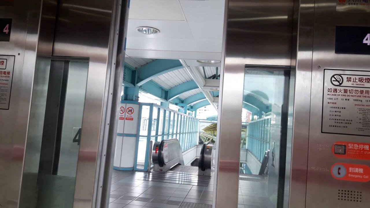 臺北捷運BR6麟光站天橋電梯來回 - YouTube