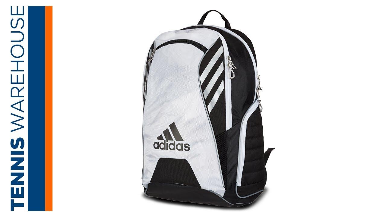 21f842b7efda adidas Tour Tennis Racquet Backpack - YouTube