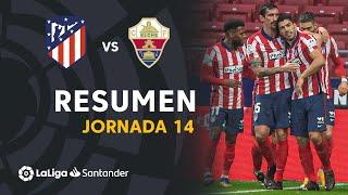 Resumen de Atlético de Madrid vs Elche CF (3-1)