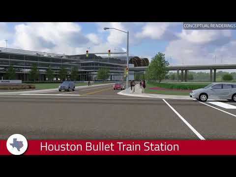 View rendering of Texas Central's Houston Bullet Train Station Preferred Location
