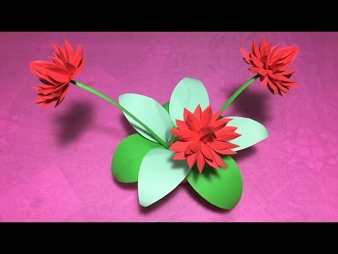 How to make origami lily flower/DIY origami flower lily/water lily folding craft