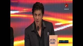 Big Star Entertainment Awards 2012  Shah Rukh Khan