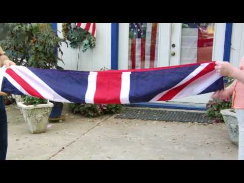 How To Handle & Fold The American Flag : How To Fold The Union Jack Flag