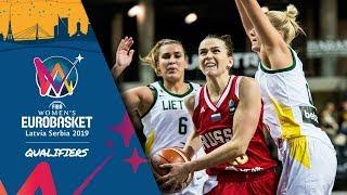 Lithuania v Russia - Full Game - FIBA Women's EuroBasket 2019 - Qualifiers 2019