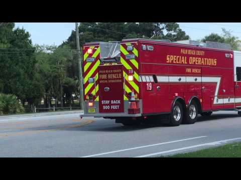 Palm Beach County Fire-Rescue Special Operations 19 Acting EMS 19 & Battalion Chief 19 Responding