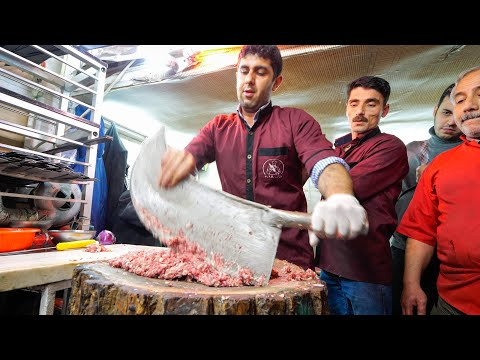 Meet the KEBAB KINGS of IRAN!! SWORD CHOPPED Meat-Madness in Bonab!