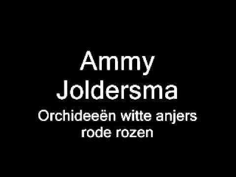 Ammy Joldersma - Orchideeën witte anjers rode rozen