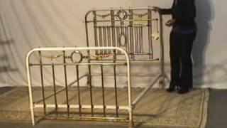 Iron & Brass Full Size Bed With Rails - Antique Ur16
