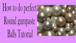 How to make same size fondant balls