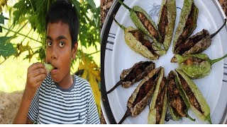 NEW RECIPE / STUFFED CHILLY CHICKEN / HEALTHY VILLAGE FOOD