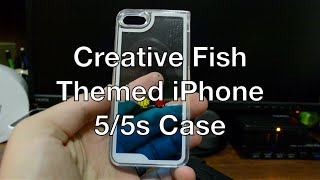 Nsstar Creative Design Flowing Liquid Swimming Fish Hard Case for Apple iPhone 5 5S