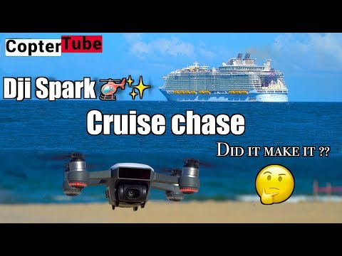 Dji Spark 🚁 ⚡️Cruise 🛳 chase