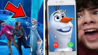 MY GIRLFRIEND AND I SPENT THE NIGHT INSIDE ELSA'S PALACE!! (FROM FROZEN MOVIE)!! *GONE WRONG*