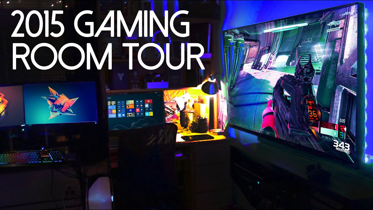 My 2015 ultimate gaming setup room tour youtube How to make a gaming setup in your room
