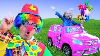 Polina ride on CAR and more best kids video by Super Polina