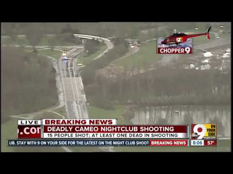 Exclusive view of Cincinnati nightclub shooting scene