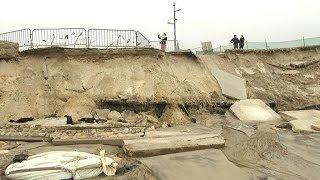 Intempéries: à Montalivet, en Gironde, le littoral a perdu 30 mètres de sable - 03/03