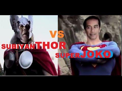 "Pertarungan JOKOWI VS PRABOWO ""Superhero Version"" SubiyanTHOR Vs SuperJOKO"
