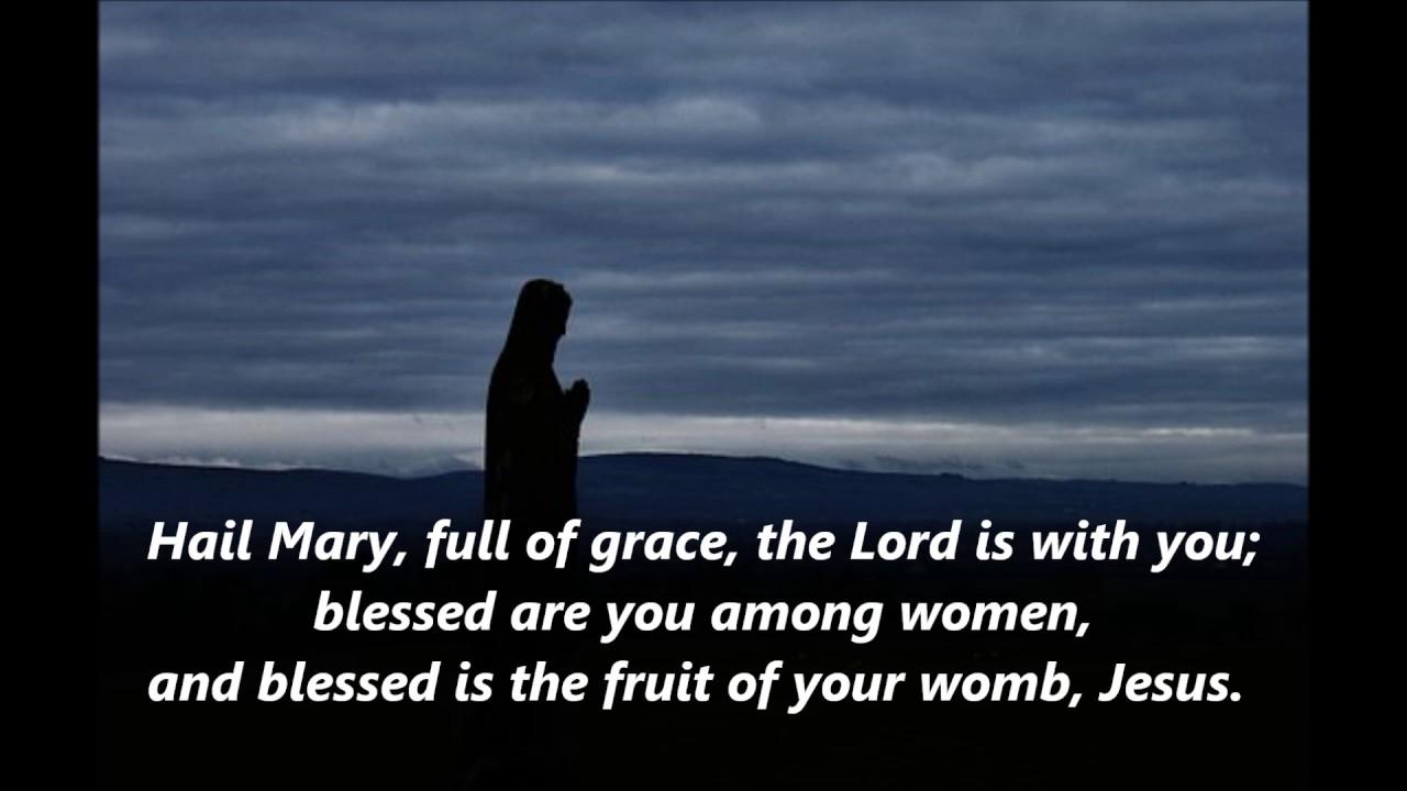 Hail Mary full of grace words lyrics favorite Ave Maria prayer penance  contrition