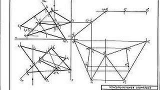 Начертательная геометрия 1 курс. Построить линию пересечения треугольников ABC и EDK