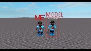 how to create a model of yourself in roblox studio