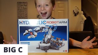 Hydraulic Robot Arm, Unbox, Build and Play