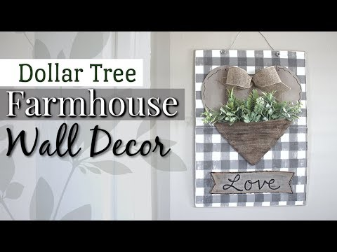 Dollar Tree Farmhouse Wall Decor | DIY Farmhouse Decor | Krafts by Katelyn