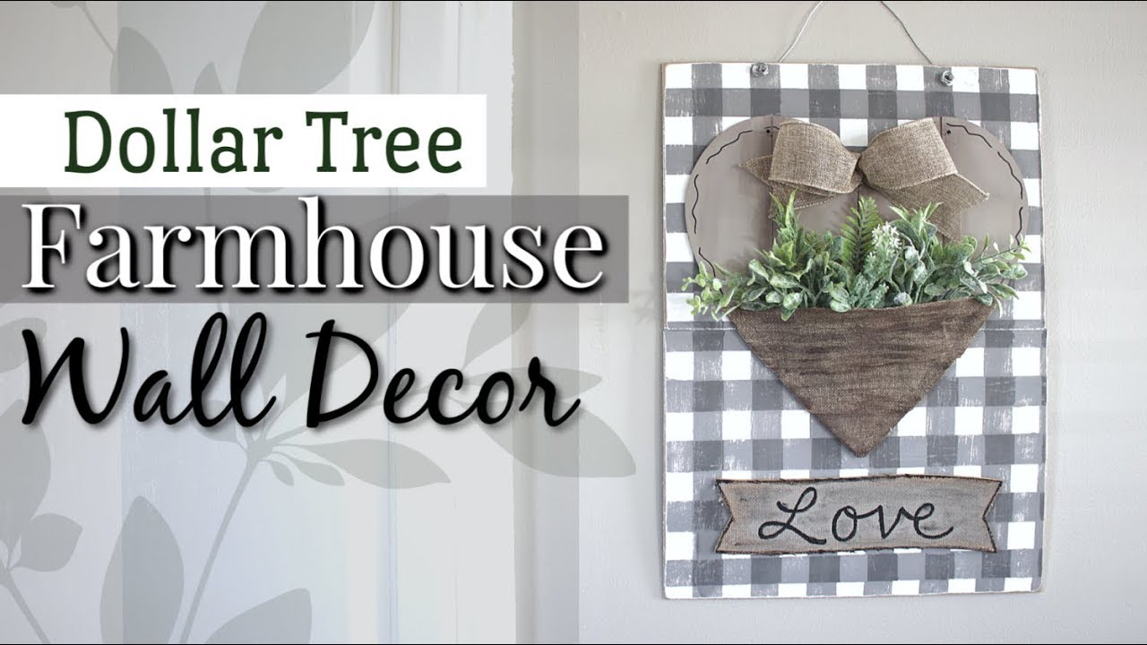 Dollar Tree Farmhouse Wall Decor Diy Farmhouse Decor
