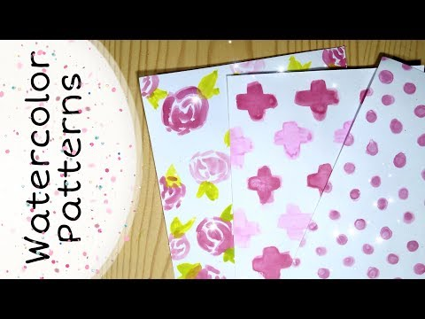DIY Watercolor Patterned Papers At Home | Scrapbook/Notebook Cover | Decorative Paper