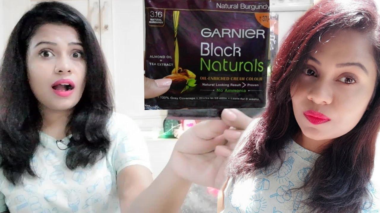Garnier Black Natural Hair Color Burgundy Review Demo Hindi That Perky Miss Hindi