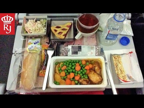 Airplane Food Review: Royal Jordanian Airlines Iftar Ramadan 2017 الأردن رمضان إفطار