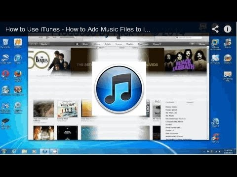 How to Use iTunes - How to Add Music Files to iTunes Library -  Free & Easy
