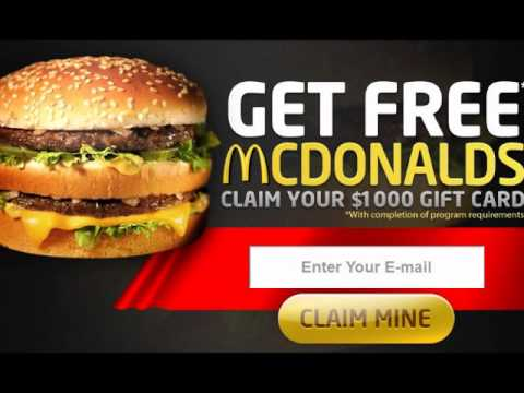 McDonald No Cost Gift Cards Fast Food - YouTube
