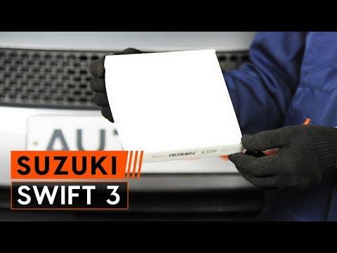How to replace pollen filter onSUZUKI SWIFT 3[TUTORIAL AUTODOC]