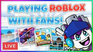 Playing ROBLOX Games with fans Livestream! (Enqrypted on ROBLOX!)