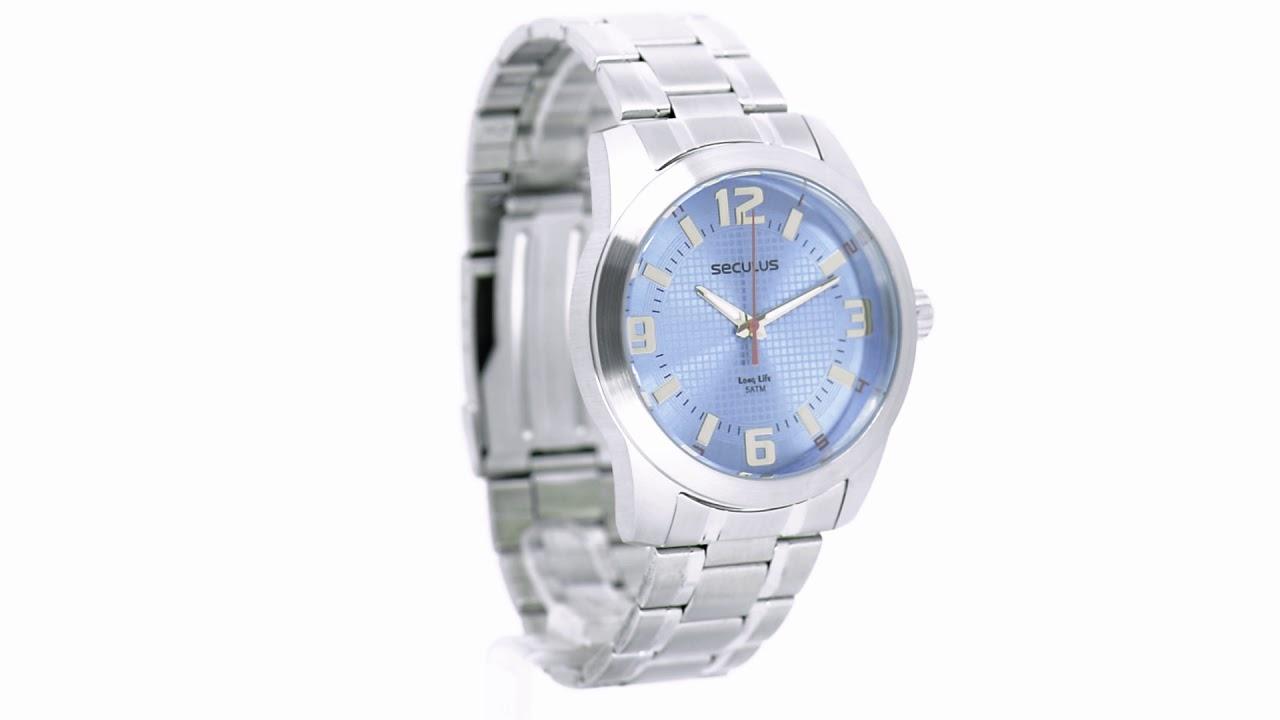 195d3868bdd Relógio Seculus Masculino Long Life 20501G0SVNA1 - Eclock - YouTube
