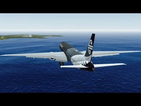 Infinite Flight B777 Air Newzealand takeoff at San Diego Int
